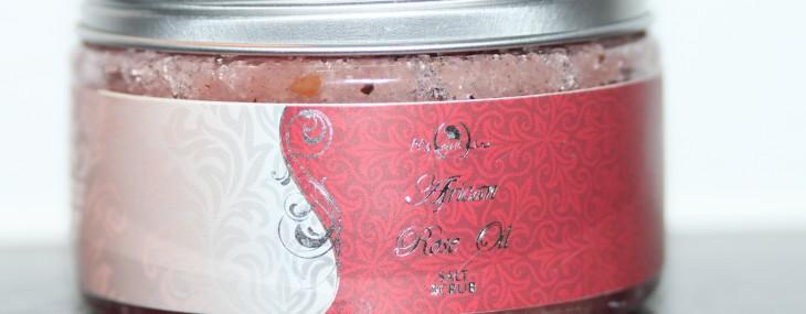 Summer Preparation: Exfoliation! Product used: Mangwanani Spa's Rose Oil Salt Scrub!