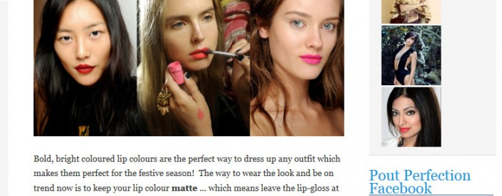 I Just Did a Guest Post on Pout Perfection About Spring/Summer Makeup Trends for the Holidays!