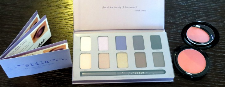 My Lil' Stila Haul: In The Moment Eye Shadow Palette and Custom Color Blush Reviews