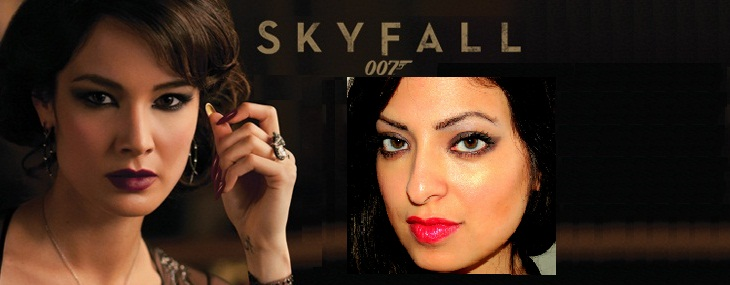 How I Did The Skyfall Bond Girl Inspired Makeup Look